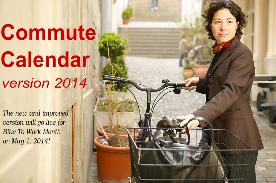 Commute Calendar version 2014 goes live for Bike To Work Month!